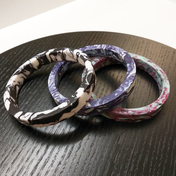 Marble Effect Resin Bangle