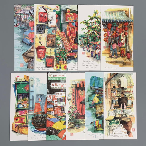 Greeting Card - Sketching in Hong Kong