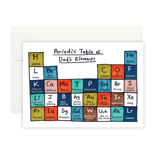 Dad's Periodic Table Card