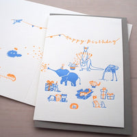 Letterpress Greeting Card - For Birthday