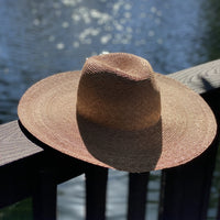 Western Wide Hat - Natural Palm