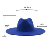Purple Classic Wide Brim Fedora Hat