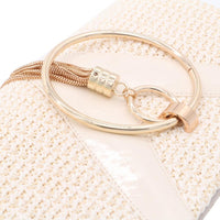 Straw Woven Evening Clutch Purse