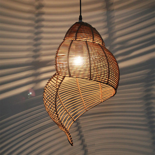 Unique Weaved Rattan Pendant Hanging Light