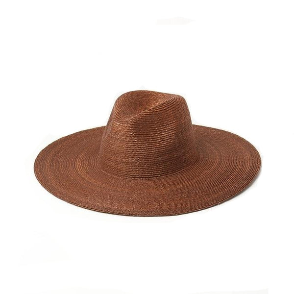 Western Wide Hat - Brown Palm
