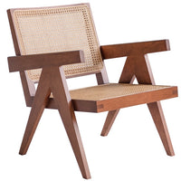 Cane Chair - Brown Finish