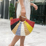 Colorful Handmade Straw Bag