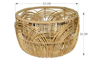 Small Woven Rattan Coffee Table