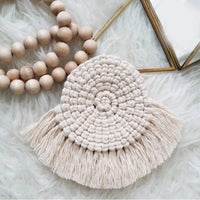 Handmade Braided Macrame Coaster (Sector)