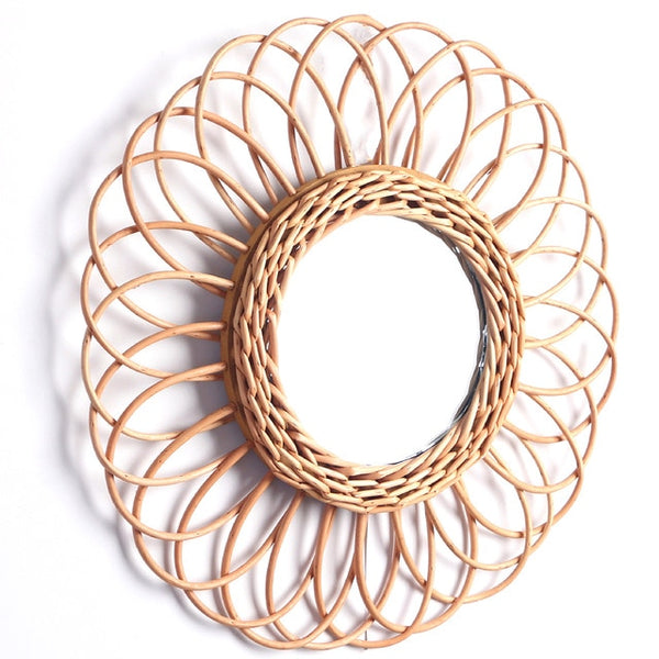 Handmade Rattan Decorative Wall Mirror