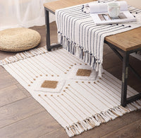 Cotton Boho Geometric Tassel Area Rug (60cm x 90cm)