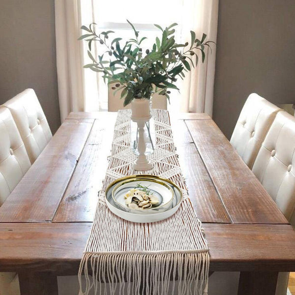 Simple Hand Woven Macrame Table Runner