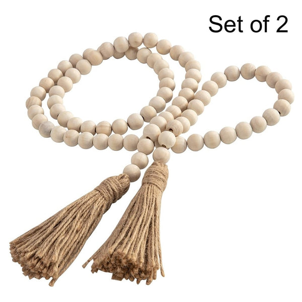 Wood Bead Garland Set (2 Pcs)