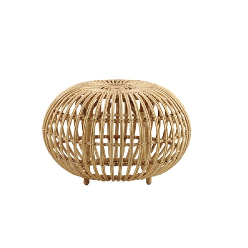 Handmade Rattan Ottoman Stool Side Table (Large)