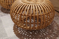 Handmade Rattan Ottoman Stool Side Table (Small)