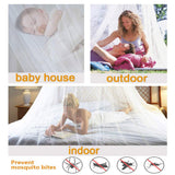 Collapsible Hoop Sheer Mosquito Net Bed Canopy