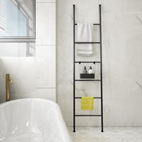 Black Decorative Metal Leaning Ladder Rack