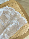 Lace Tablecloth Lace Picnic Rug - The Cottagecore