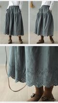 Vintage Cotton Skirt - The Cottagecore