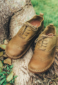 Cowhide Leather Forest Shoes - The Cottagecore