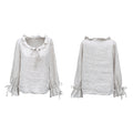 100% Linen Top With Ruffled Sleeves