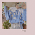 Baby Blue 3D Flowers Knitted Cardigan