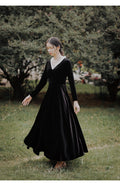 Black Velvet Dress - The Cottagecore