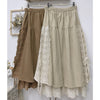Double-Layered Corduroy Skirt