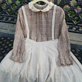 Pinafore Skirt With Straps - The Cottagecore
