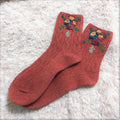 Hand Embroidered Wool Socks