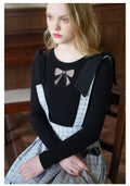 Tulle Bow Knitted Shirt