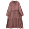 Long Sleeve Vintage Drawstring Dress - The Cottagecore