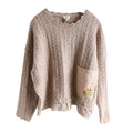 Hand Embroidered Loose Fit Cute Sweater