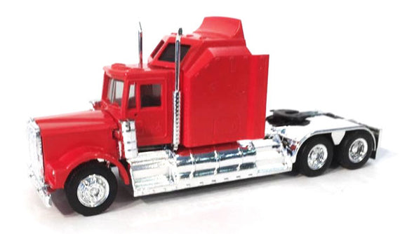 1/87 SCALE HO KENWORTH W-900 AERODYNE SLEEPER IN RED