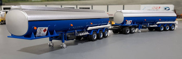 1/64 HIGHWAY REPLICAS TANKER DOUBLE TRAILER & DOLLY