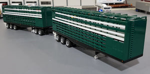 1/64 HIGHWAY REPLICAS FIRST RELEASE LIVESTOCK DOUBLE TRAILER & DOLLY