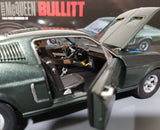 1/18 GREENLIGHT 1968 FORD MUSTANG GT BULLET  MOVIE CAR NEW IN BOX