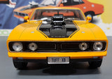 1/18 GREENLIGHT FORD XB GT351 FALCON DRAG VERSION ORANGE WITH NUMBERED COANEW IN BOX