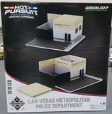 1/64 GREENLIGHT HOT PURSUIT CENTRAL COMMAND POLICE STATION READY BUILT