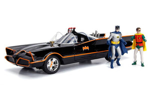 1/18 JADA BATMAN CAR & FIGURES FROM ORIGINAL TV SERIES NEW IN BOX