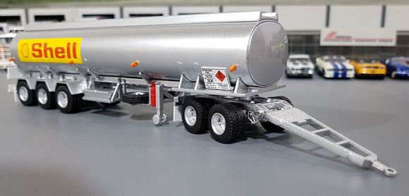1/64 HIGHWAY REPLICAS SHELL TANKER TRAILER AND DOLLY