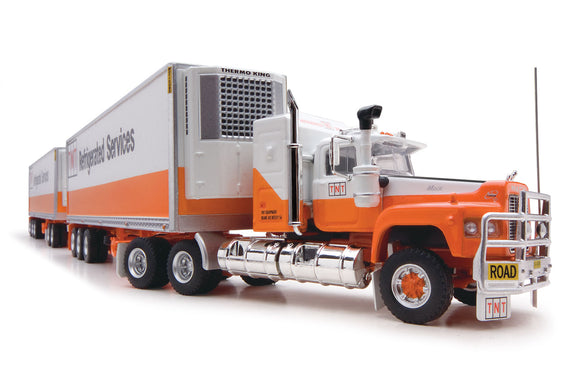 1/64 SCALE  HIGHWAY REPLICAS TNT MACK VALUELINER ROADTRAIN DOUBLE