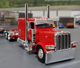 1/64 PETERBILT 389 RED/ARTEBERRY WITH MATCHING SPREAD AXLE REFRIGERATED TRAILER