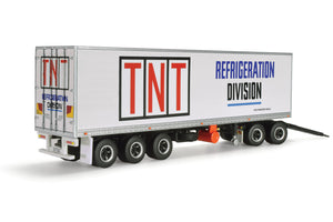 1/64 HIGHWAY REPLICAS TNT REFRIGERATED SERVICES BOX TRAILER