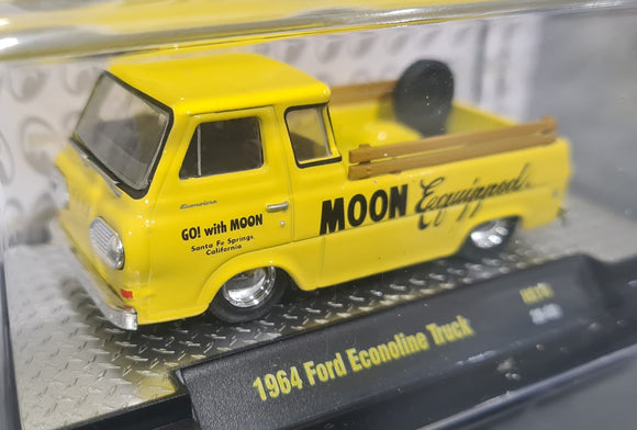 1/64 M2 MACHINE MOONEYES 1964 FORD ECONOLINE LIMITED RUN NEW ON CARD