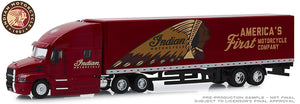 1/64 GREENLIGHT MACK ANTHEM INDIAN MOTORCYCLES WITH TRAILER NEW IN DISPLAY BOX