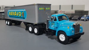 1/64 VINTAGE B-MODEL MACK NAJAVO AND TRAILER DIECAST MADE BY FIRST GEAR