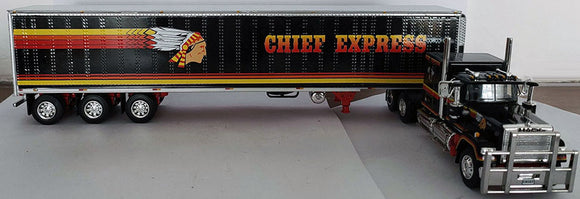 PRE ORDER DEPOSIT 1/64 SCALE CHIEF EXPRESS MACK SUPERLINER WITH TRI TRAILER TUFFTRUCKS/DCP