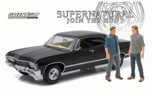 1/18 GREENLIGHT 1967 CHEVY IMPALA SPORT SUPERNATURAL CAR & FIGURES FROM THE TV SERIES NEW IN BOX