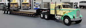 1/64 DCP / FIRST GEAR VINTAGE PETERBILT WITH TRI HEAVY HAULER TRAILER